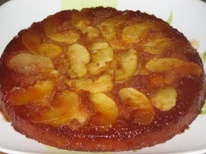 Apple Tatin Cake at DesiRecipes.com