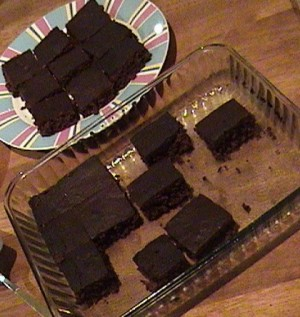 Deep Dish Brownies at DesiRecipes.com
