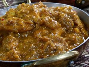 Hara Masala Chicken at DesiRecipes.com