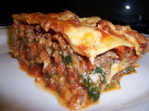 Spinach Lasagna at DesiRecipes.com