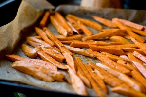 Sweet Potatoes Fries at DesiRecipes.com