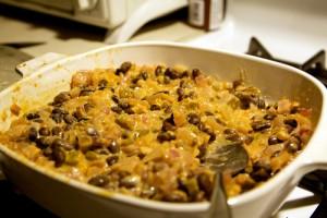 Cheesy Bean Dip at DesiRecipes.com
