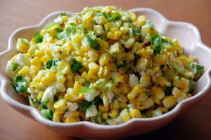 Roasted Corn Salsa at DesiRecipes.com
