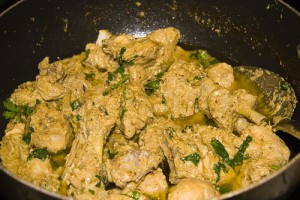 Chicken White Karahi at DesiRecipes.com