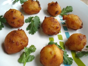 Rice Pakora at DesiRecipes.com