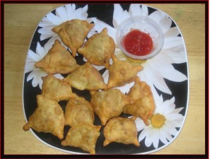 Veggie Samosas at DesiRecipes.com