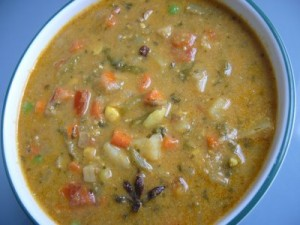 Mixed Vegetable Masala at DesiRecipes.com