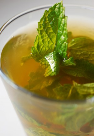 Green Tea With Mint at DesiRecipes.com