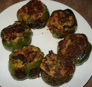 Stuffed Bell Peppers at DesiRecipes.com
