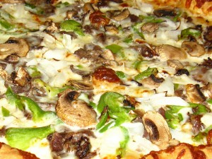 Philli Cheese Steak Pizza at DesiRecipes.com