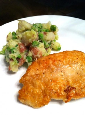 Chicken Cutlets With Potatoes And Peas at DesiRecipes.com