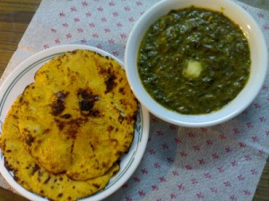 Sarson Ka Saag (Mustard Greens) at DesiRecipes.com