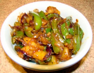 Shimla Mirch Ki Sabzi at DesiRecipes.com