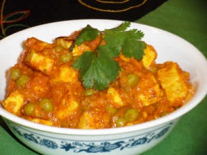 Matar Paneer (Cottage Cheese And Peas)