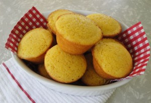 Honey Corn Bread Muffins at DesiRecipes.com