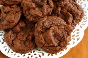 Double Chocolate Chip Cookies at DesiRecipes.com