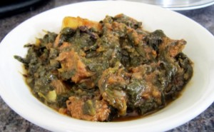 Palak Gosht at DesiRecipes.com