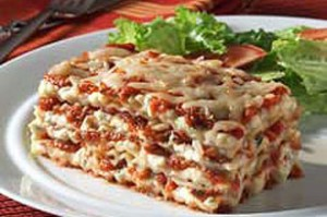 Cheesy Lasagna at DesiRecipes.com