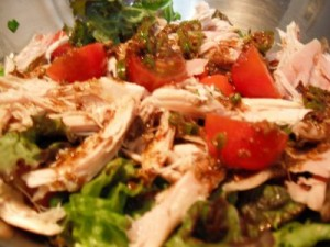 Spicy Chicken Salad at DesiRecipes.com