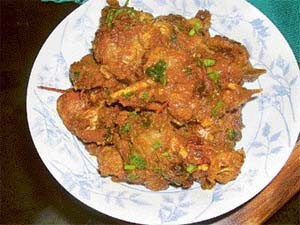 Hara Masala Bhuna Gosht at DesiRecipes.com