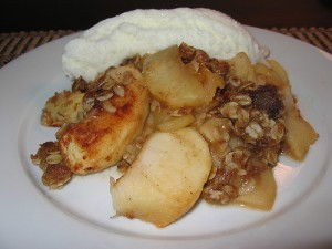 Apple Crisp at DesiRecipes.com