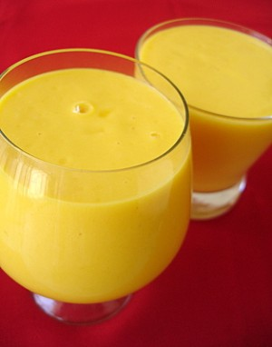 Rich Mango Lassi at DesiRecipes.com