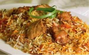 Easy Chicken Biryani at DesiRecipes.com