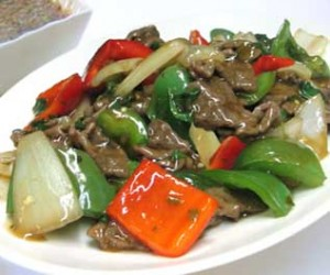Exotic Spring Fried Beef at DesiRecipes.com