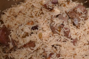 Beef, Lamb Or Chicken Pulao