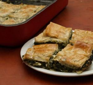 Spinach Pie at DesiRecipes.com