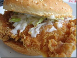 Zinger Burger at DesiRecipes.com