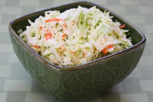Cabbage Slaw at DesiRecipes.com
