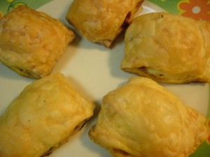 Cheese And Onion Pastries at DesiRecipes.com