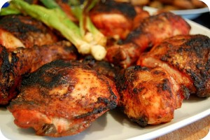 Barbecued Tandoori Chicken at DesiRecipes.com
