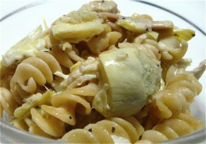 Pasta With Chicken at DesiRecipes.com