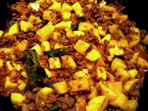 Aloo Qeema at DesiRecipes.com