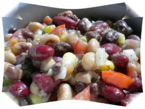 Southwestern Style Black Bean Salad at DesiRecipes.com