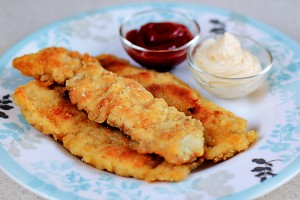 Crispy Chicken Fingers at DesiRecipes.com