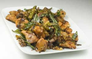 Dry Chicken Chilli at DesiRecipes.com