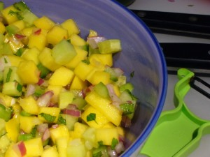 Cucumber And Mango Salsa Recipe at DesiRecipes.com