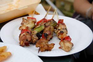 Chicken And Vegetable Kebabs at DesiRecipes.com
