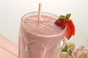 Strawberry Smoothie at DesiRecipes.com