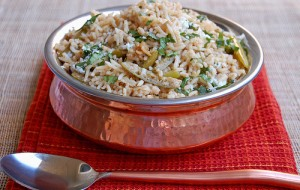 Spicy Qeema Pulao at DesiRecipes.com