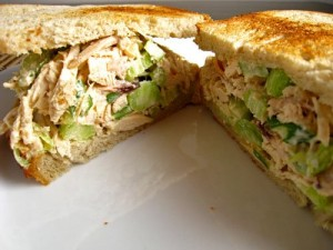 Shredded Chicken Sandwiches at DesiRecipes.com