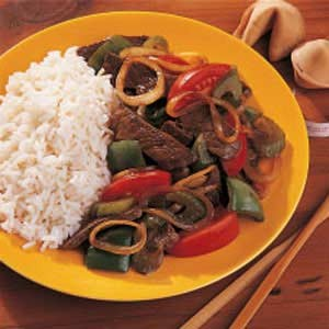 Pepper Steak at DesiRecipes.com