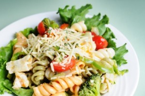 Simple Pasta Salad at DesiRecipes.com