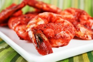 Shrimp In Tandoori Marinade at DesiRecipes.com