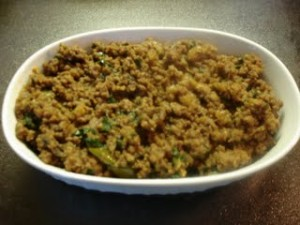 Mince Meat Karahi at DesiRecipes.com