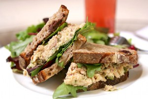 Tuna Club Sandwich at DesiRecipes.com