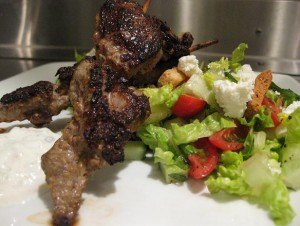 Lemon Lamb Kabob at DesiRecipes.com